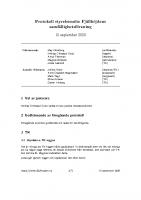 Fjällhöjden styrelsemötesprotokoll 2020-09-15